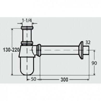 Poliruoto nerūdijančio plieno sifonai 5