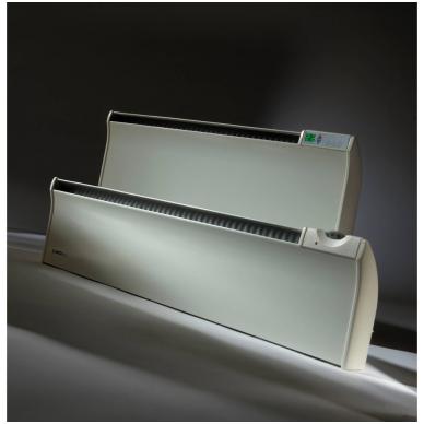 ADAX GLAMOX TLO Elektrinis konvekcinis radiatorius (180 mm auksčio) Su elektroniniu termostatu, pajungimas nuo rozetės, IP20 4