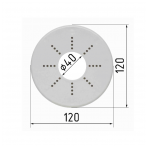 Aikštelė šviestuvams d120 mm