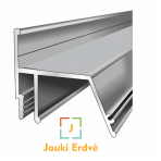 """Aliuminio """"kontūro"""" profilis perimitriniam LED apšvietimui"""