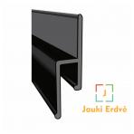 """Aliuminio storasienis profilis sieninis """"su tarpeliu"""" 250 cm ilgio"""