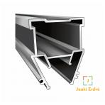 """Aliuminio profilis """"skraidančios linijos"""" su skaidria dengančiaja juostele"""