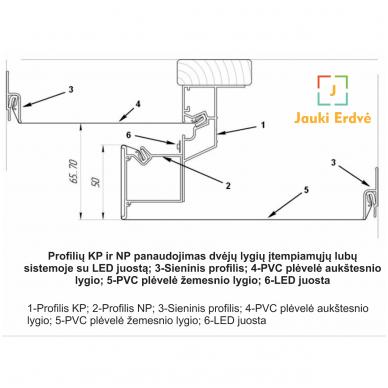 Aliuminio profilis dvėjų lygių KP-2 4