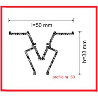 """Aliuminio profilis jungiamasis """"W"""" 2"""