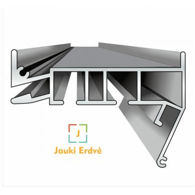 Aliuminio profilis PK 15 (Baltos sp. 2-jų bėgelių)