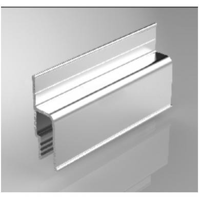 """Aliuminio profilis sieninis """" su dantuku"""" tvirtinti dengančioji juostą 2"""