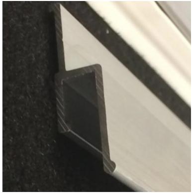 """Aliuminio profilis sieninis """"su tarpeliu"""" 2"""