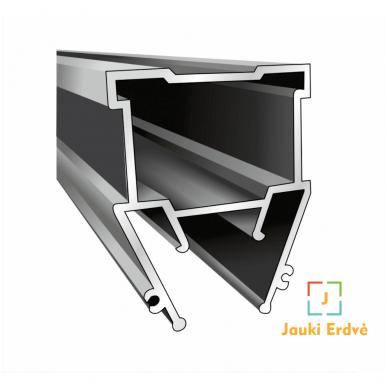 """Aliuminio profilis """"skraidančios linijos"""" su skaidria dengančiaja juostele 2"""