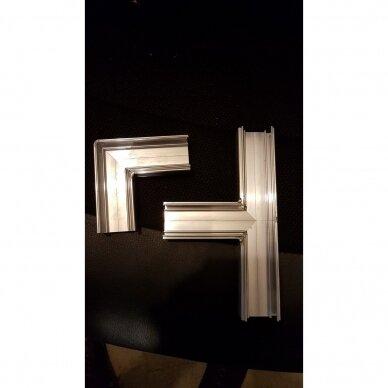"""Aliuminio profilis """"skraidančios linijos"""" su skaidria dengančiaja juostele 4"""