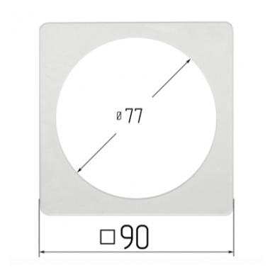 Termožiedas šviestuvams, kvadratinis, vidus apvalus 4