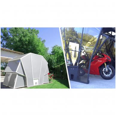 GAZEBOX MOTO Garažas (Stoginė) motociklams 9