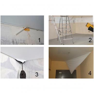 Įtempiamųjų lubų demontavimas (tik plėvelės)