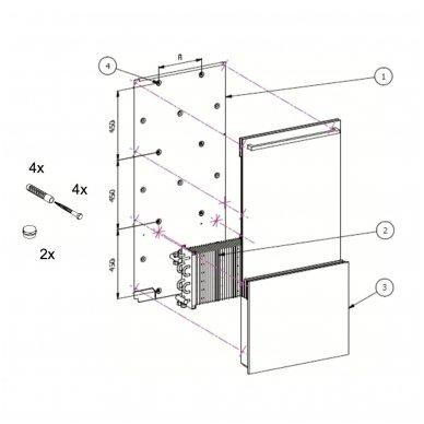 Joy Bath (700x1495 mm, 2,4,6 eilių, vidinio pajungimo) 5