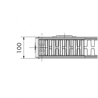 KORADO - Z 22 (100 mm pločio) (Cinkuotas/ šoninio pajungimo) 2