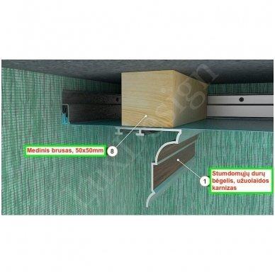 Paruošimo darbai karnizui, sieniniai spintai arba jungiamajam profiliui W (su mediniu tašu apie 50х50mm) 2