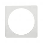Termožiedas šviestuvams, kvadratinis, vidus apvalus