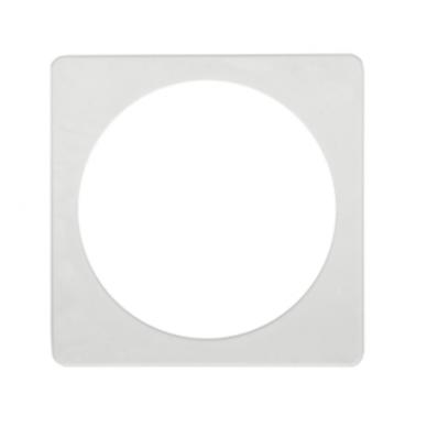 Termožiedas šviestuvams, kvadratinis, vidus apvalus 2